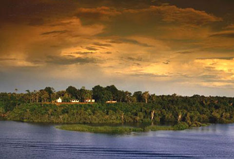 Iquitos jungle sunset pictures